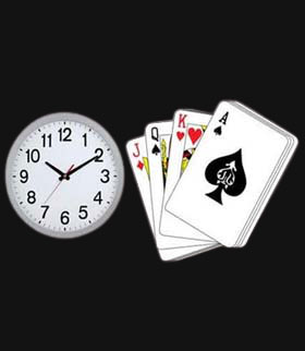 WATCH PLAYING CARDS DEVICE