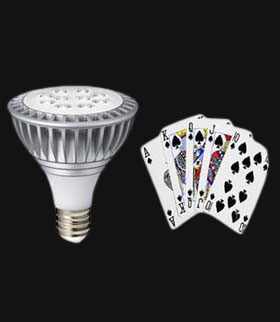 LED LIGHT PLAYING CARDS DEVICE